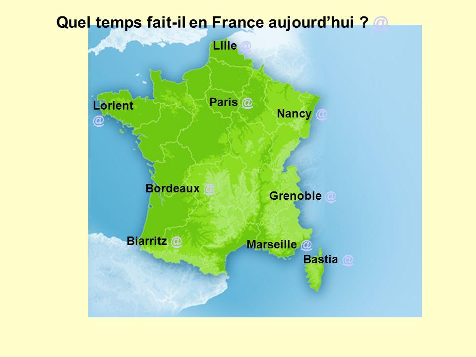 Quel temps fait-il en France aujourd'hui @