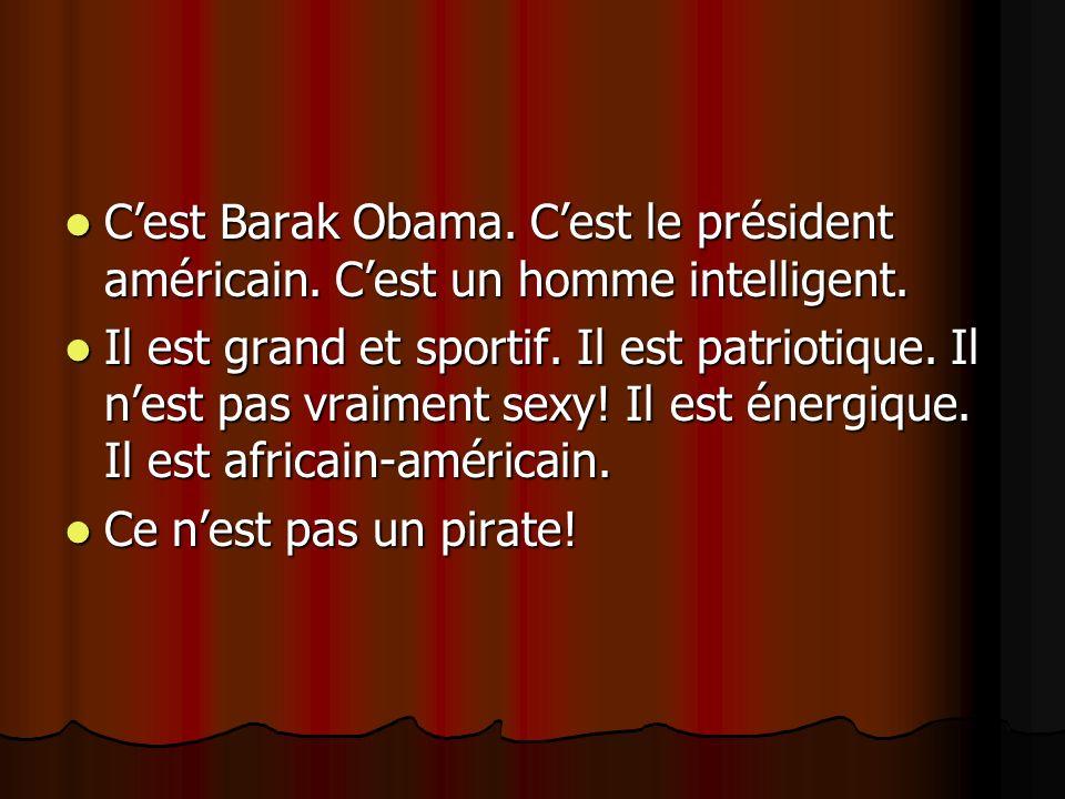 C'est Barak Obama. C'est le président américain