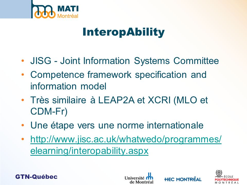 InteropAbility JISG - Joint Information Systems Committee