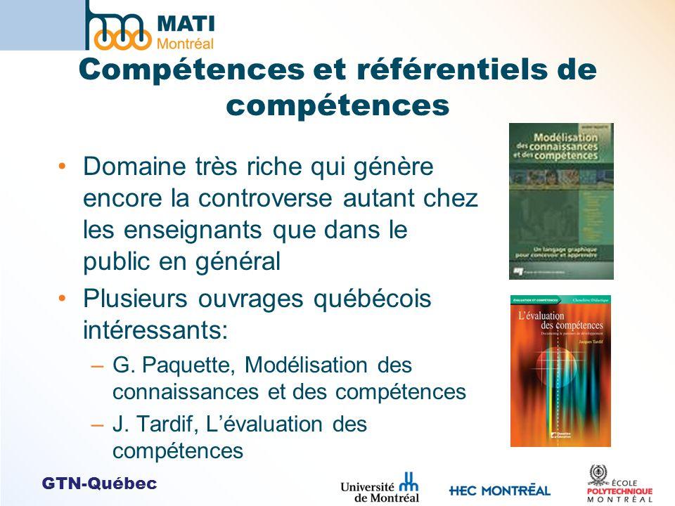 Compétences et référentiels de compétences