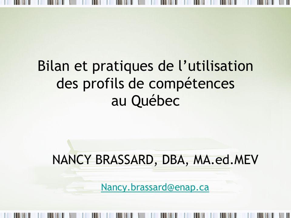 NANCY BRASSARD, DBA, MA.ed.MEV Nancy.brassard@enap.ca