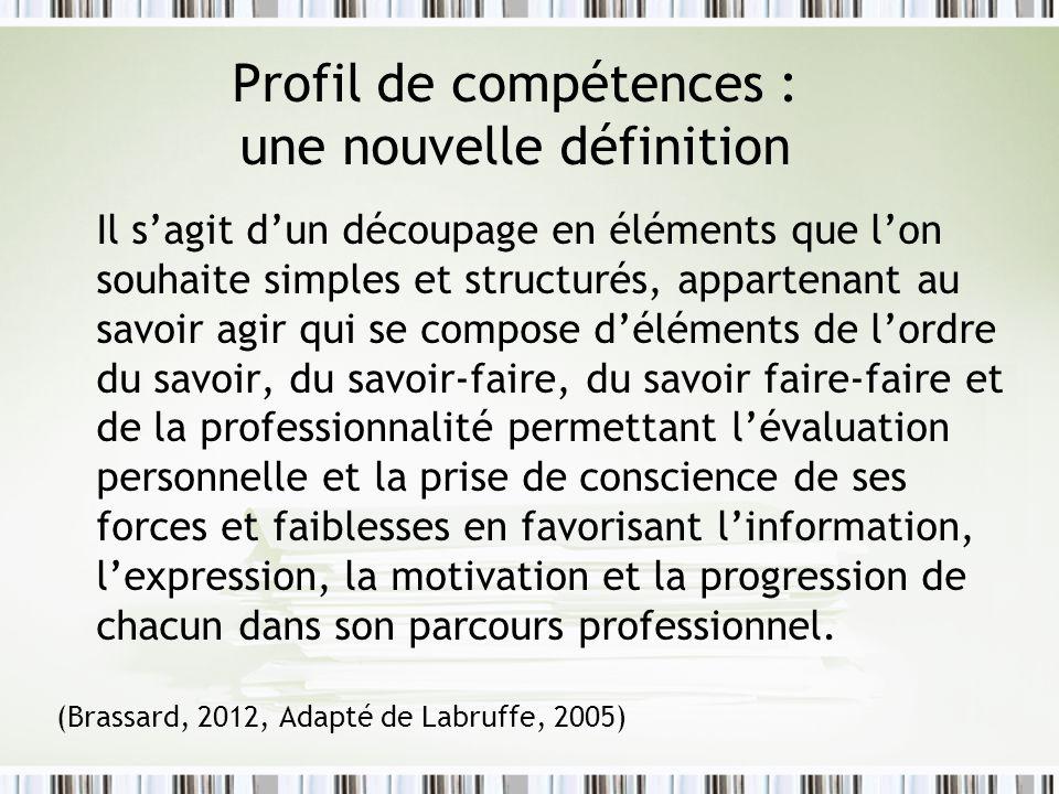 Profil de compétences : une nouvelle définition