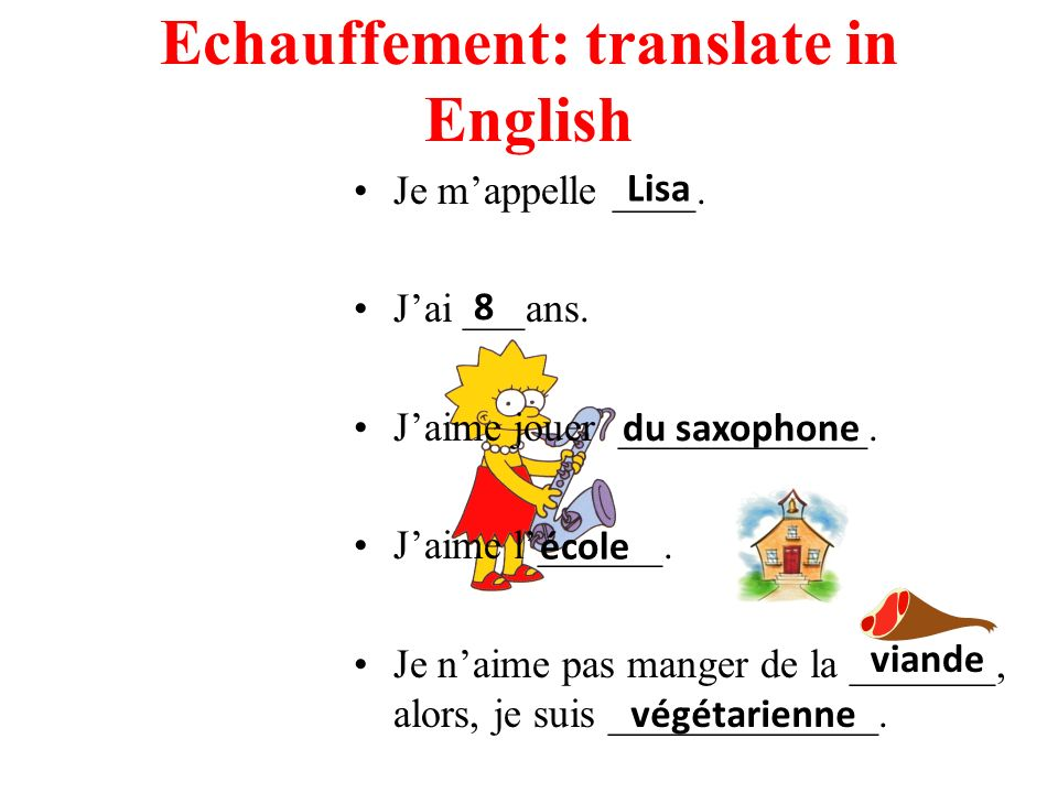 Echauffement: translate in English