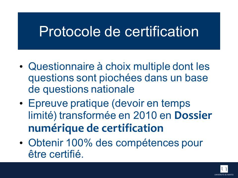 Protocole de certification