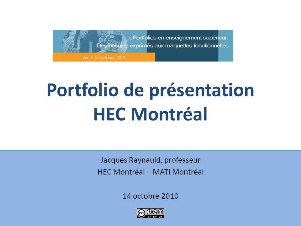 Portfolio de présentation HEC Montréal