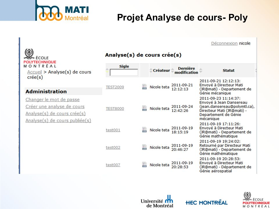 Projet Analyse de cours- Poly