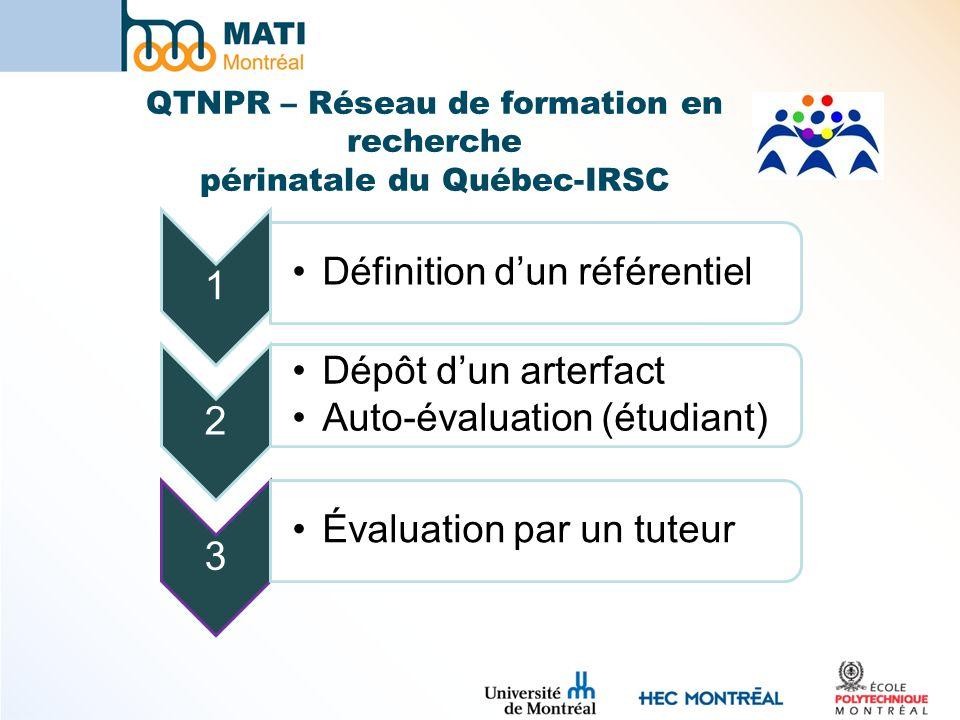 QTNPR – Réseau de formation en recherche périnatale du Québec-IRSC