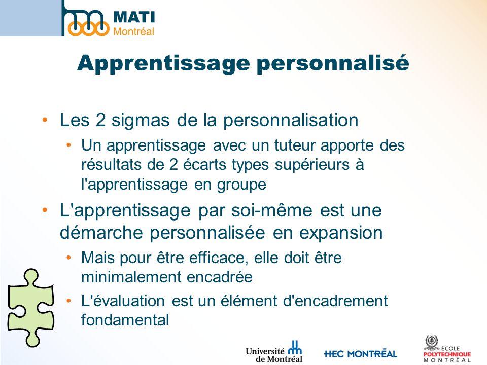 Apprentissage personnalisé