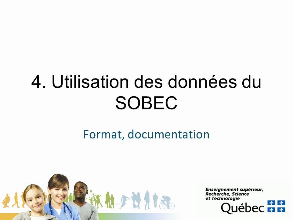 4. Utilisation des données du SOBEC