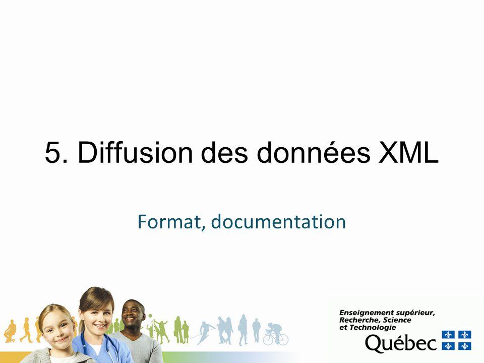 5. Diffusion des données XML