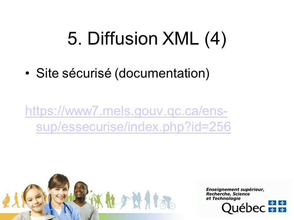 5. Diffusion XML (4) Site sécurisé (documentation)
