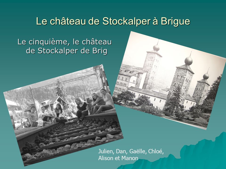 Le château de Stockalper à Brigue
