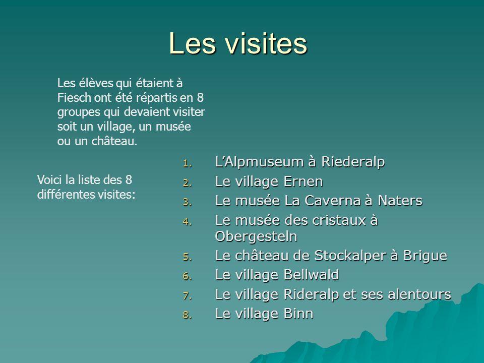 Les visites L'Alpmuseum à Riederalp Le village Ernen