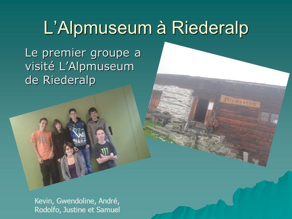 L'Alpmuseum à Riederalp