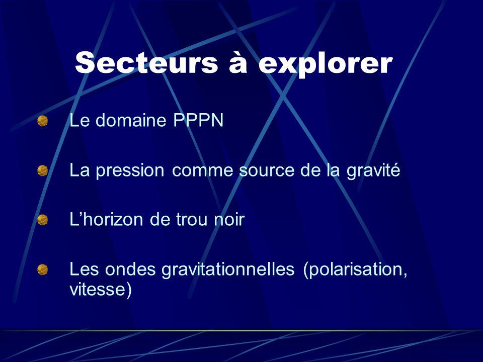 Secteurs à explorer Le domaine PPPN