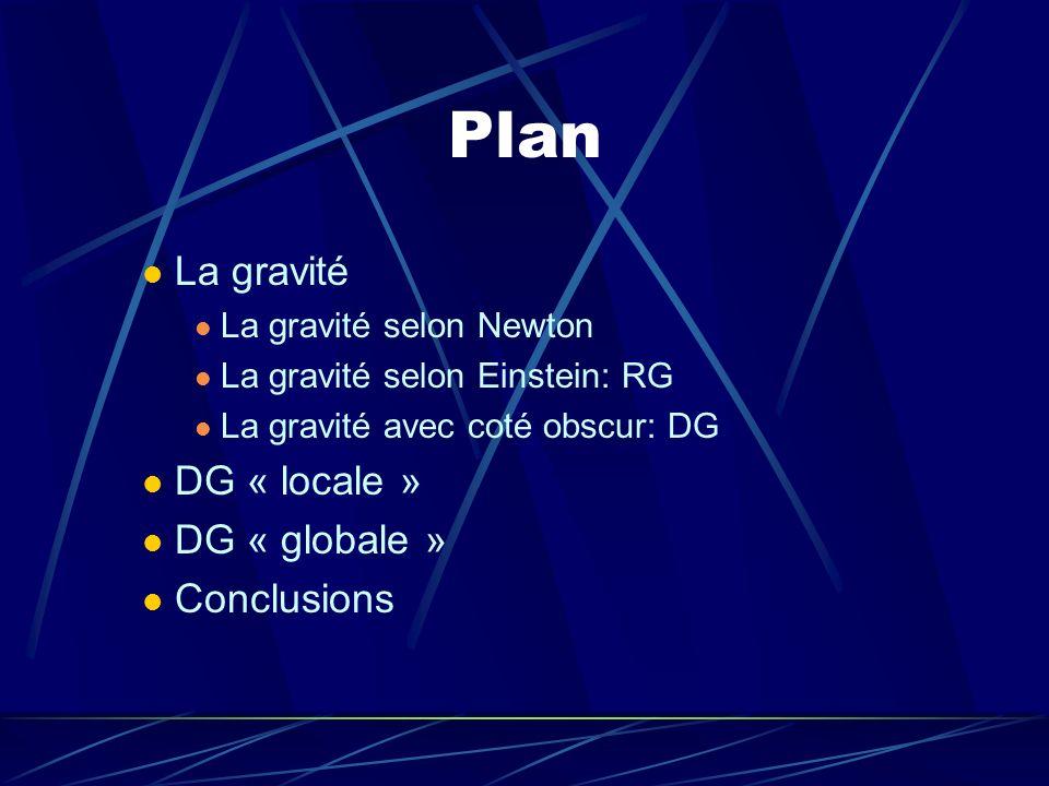 Plan La gravité DG « locale » DG « globale » Conclusions