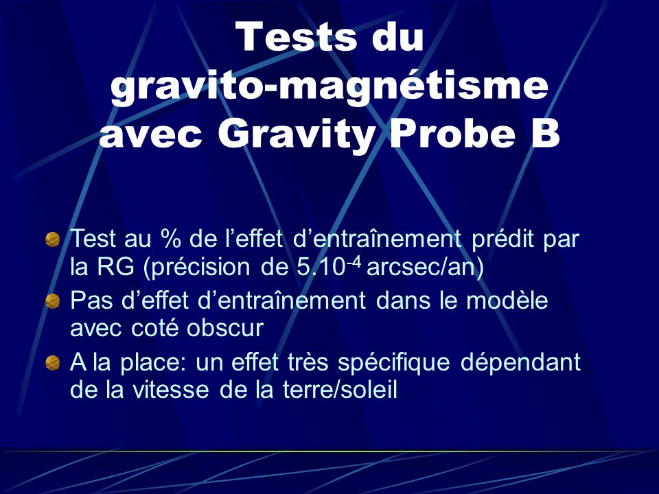 Tests du gravito-magnétisme avec Gravity Probe B