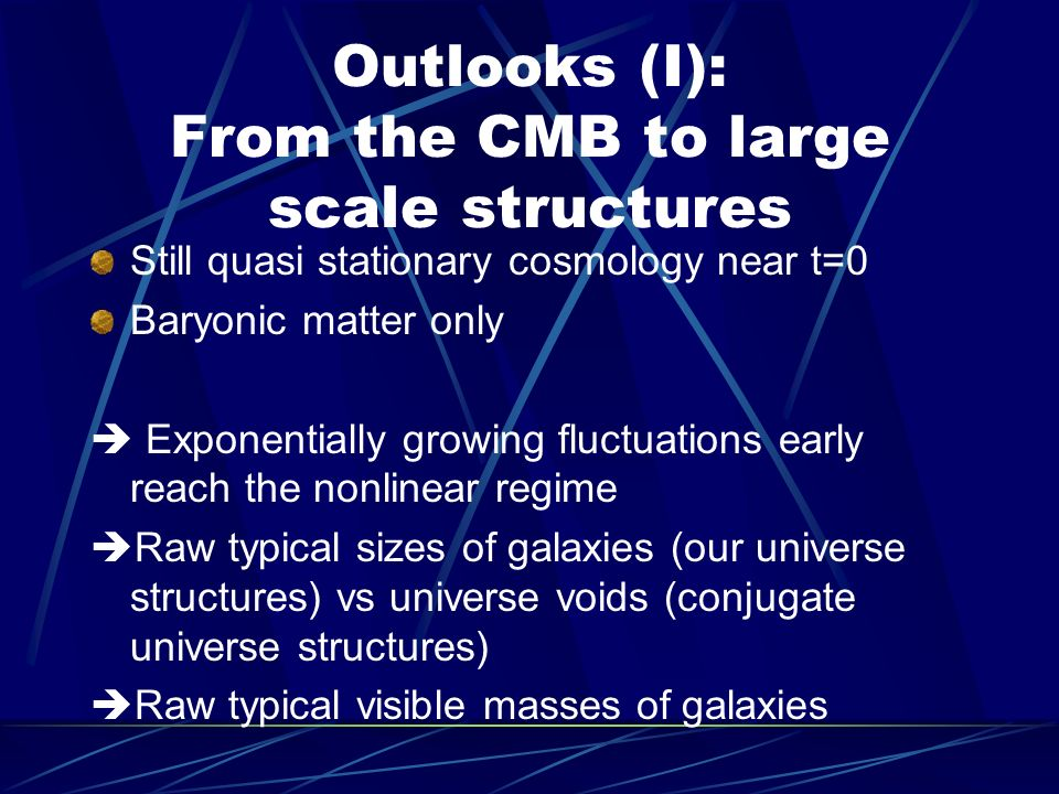 Outlooks (I): From the CMB to large scale structures