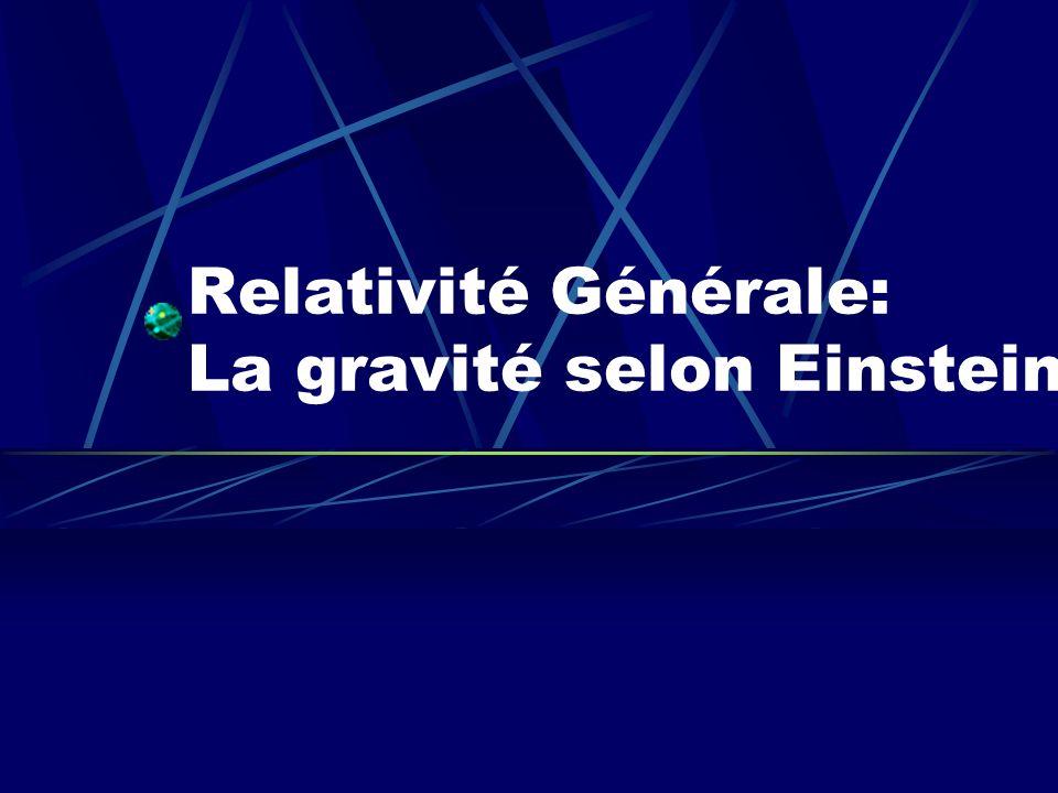 Relativité Générale: La gravité selon Einstein