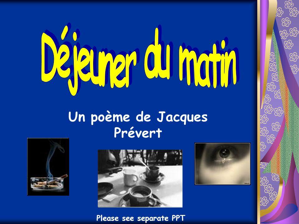 Un poème de Jacques Prévert