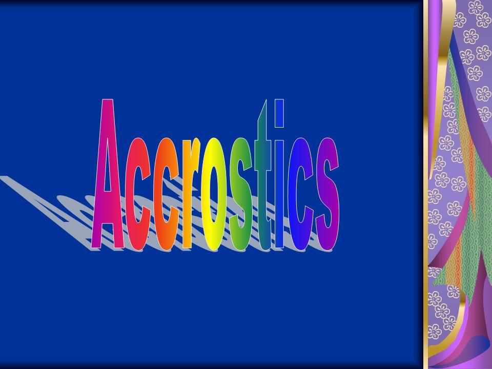 Accrostics