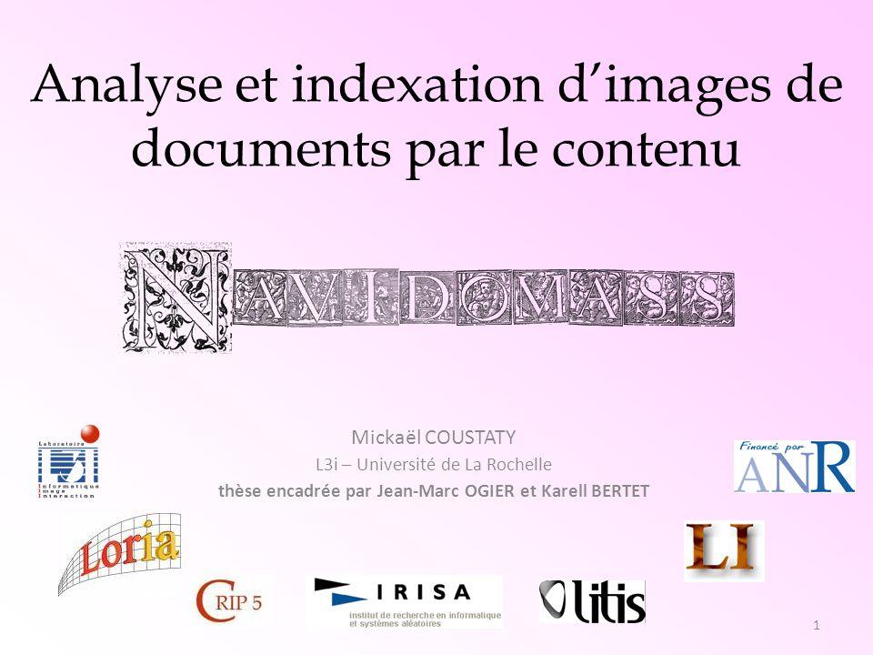 thèse encadrée par Jean-Marc OGIER et Karell BERTET