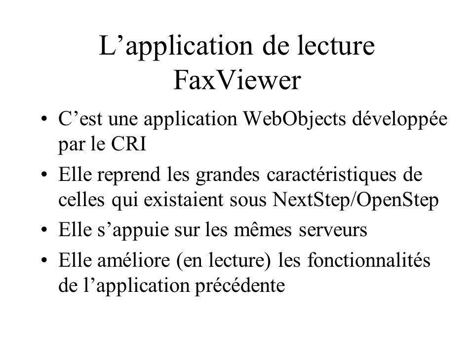 L'application de lecture FaxViewer