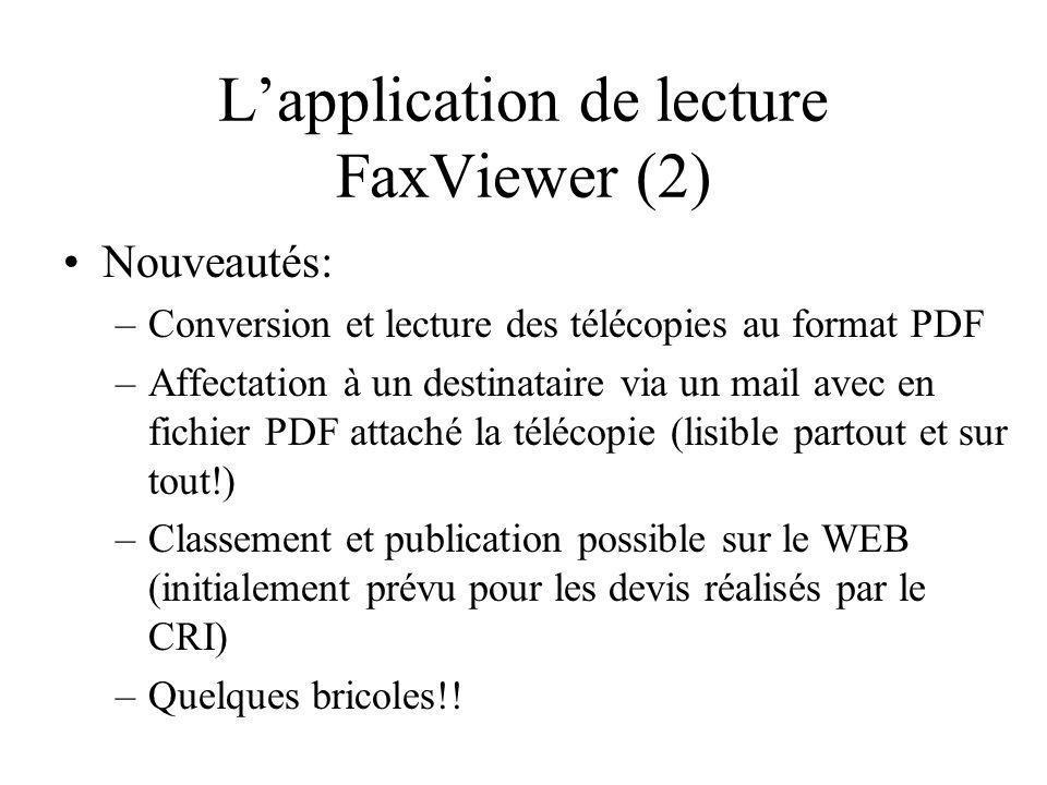 L'application de lecture FaxViewer (2)