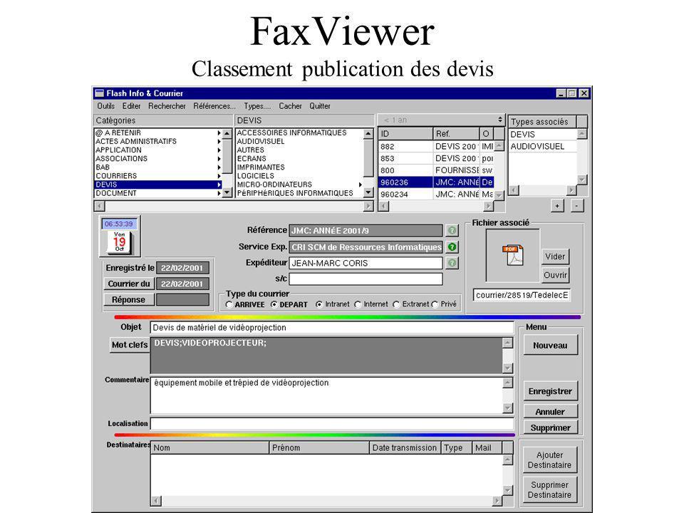 FaxViewer Classement publication des devis
