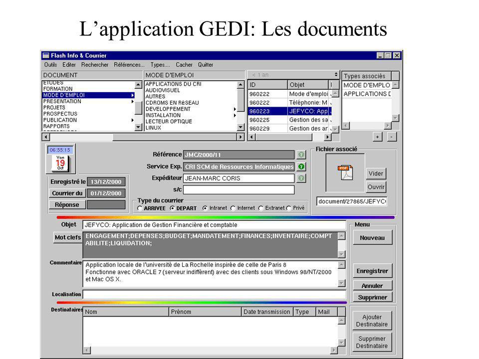 L'application GEDI: Les documents