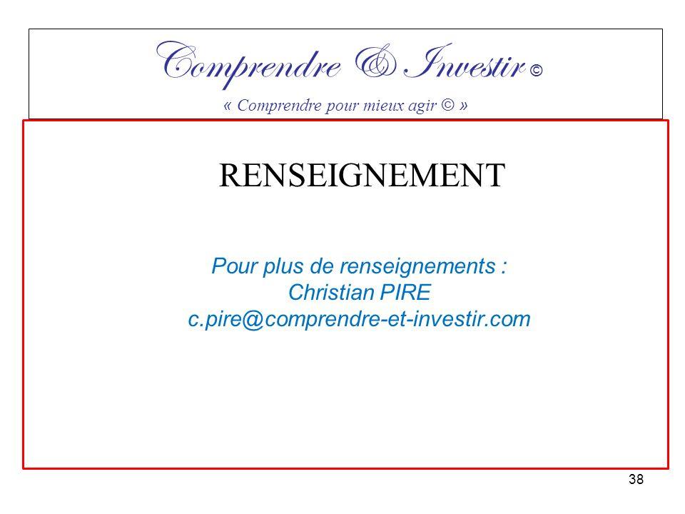 Comprendre & Investir ©