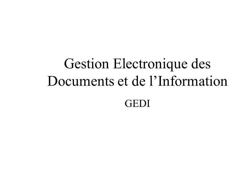 Gestion Electronique des Documents et de l'Information