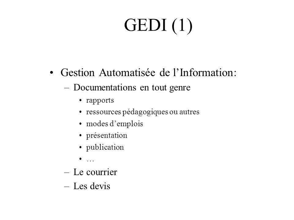 GEDI (1) Gestion Automatisée de l'Information:
