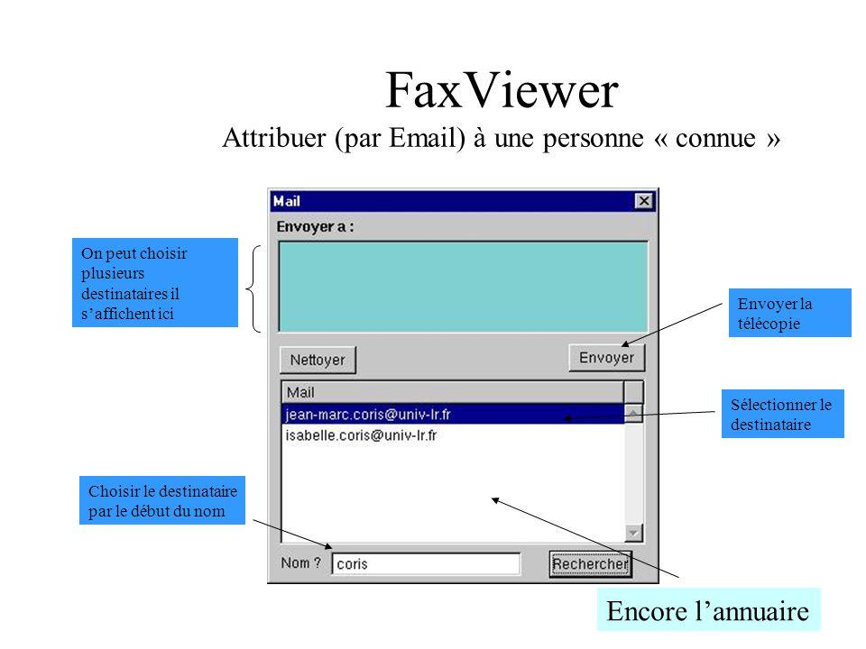 FaxViewer Attribuer (par Email) à une personne « connue »