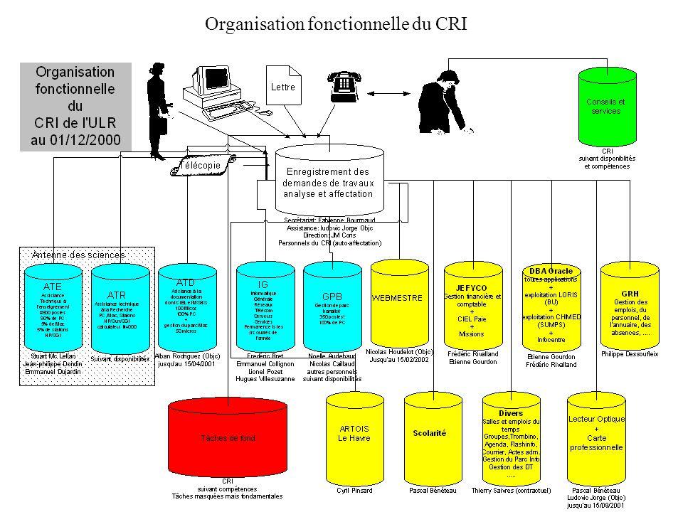 Organisation fonctionnelle du CRI