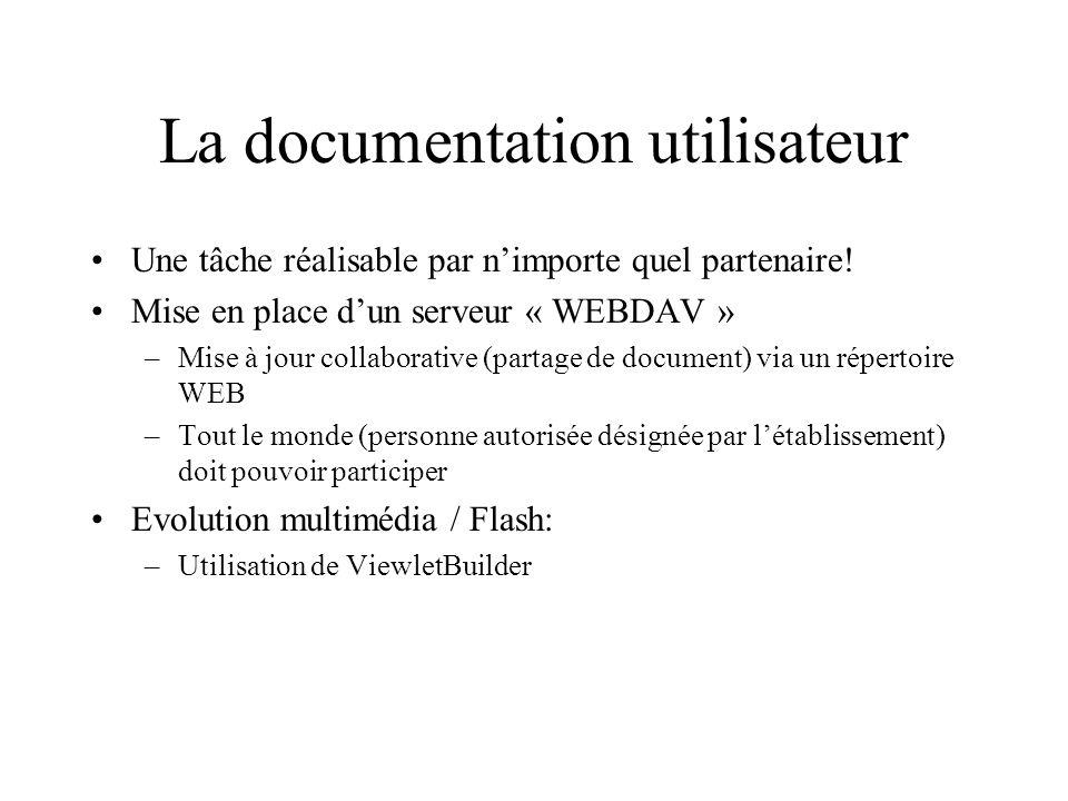 La documentation utilisateur