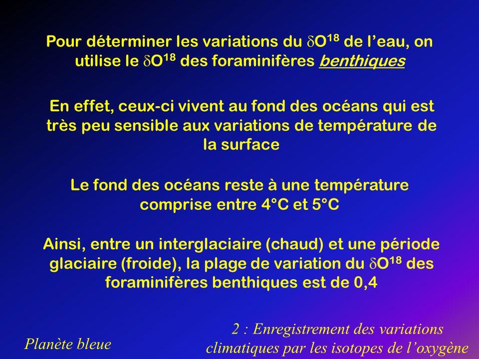 Le fond des océans reste à une température comprise entre 4°C et 5°C