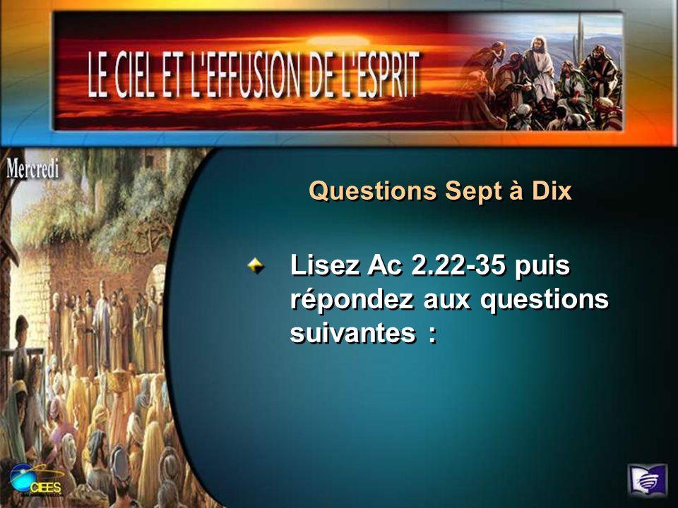 Lisez Ac 2.22-35 puis répondez aux questions suivantes :