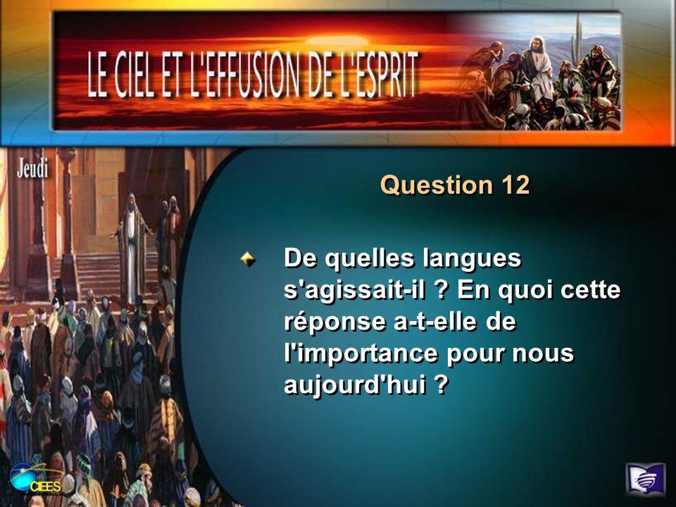 Question 12 De quelles langues s agissait-il .