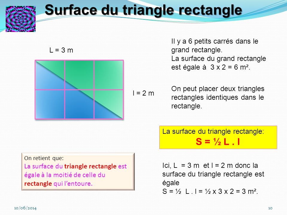Surface du triangle rectangle
