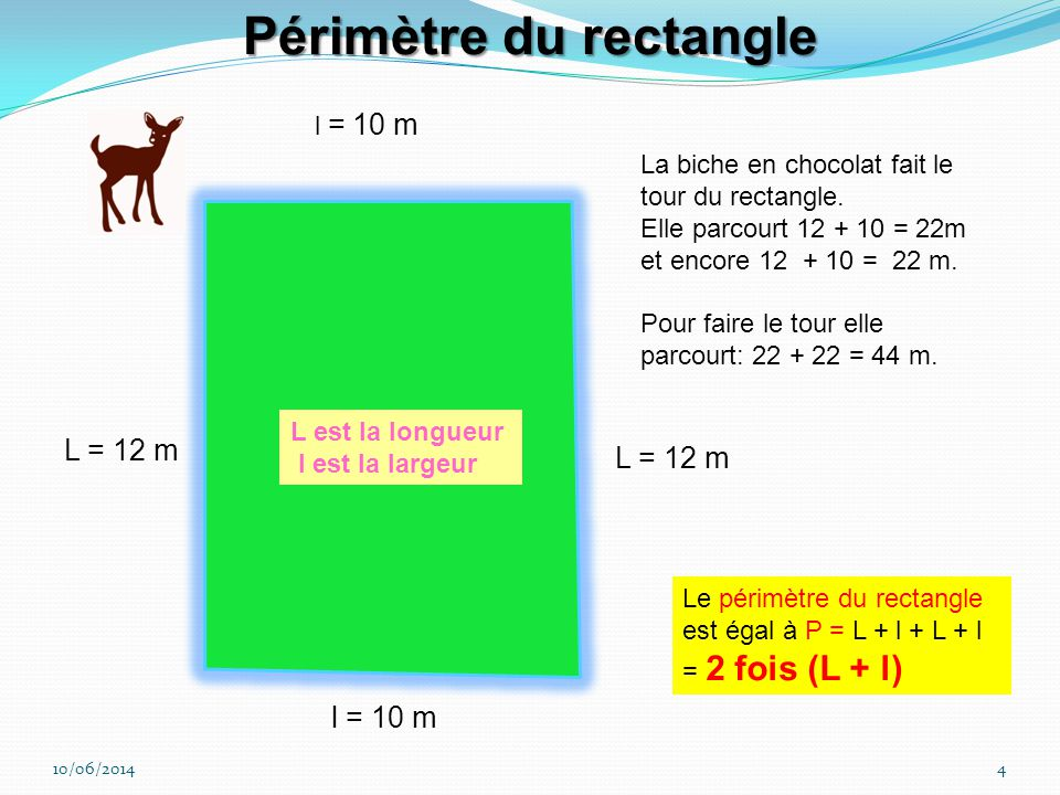 Périmètre du rectangle