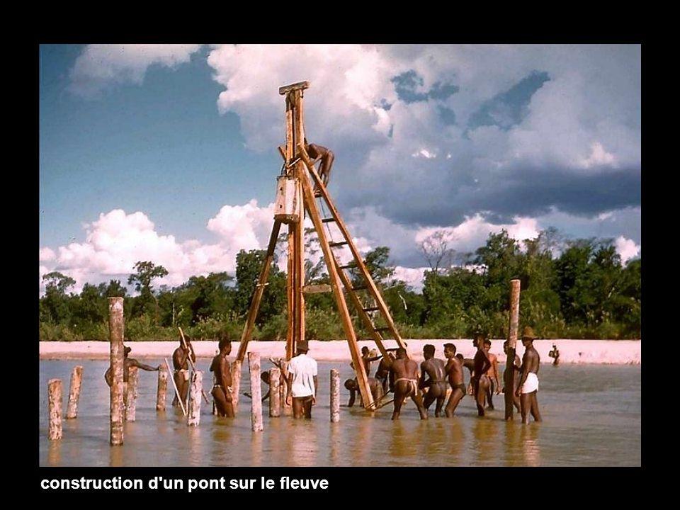 construction d un pont sur le fleuve