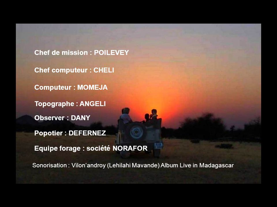 Chef de mission : POILEVEY