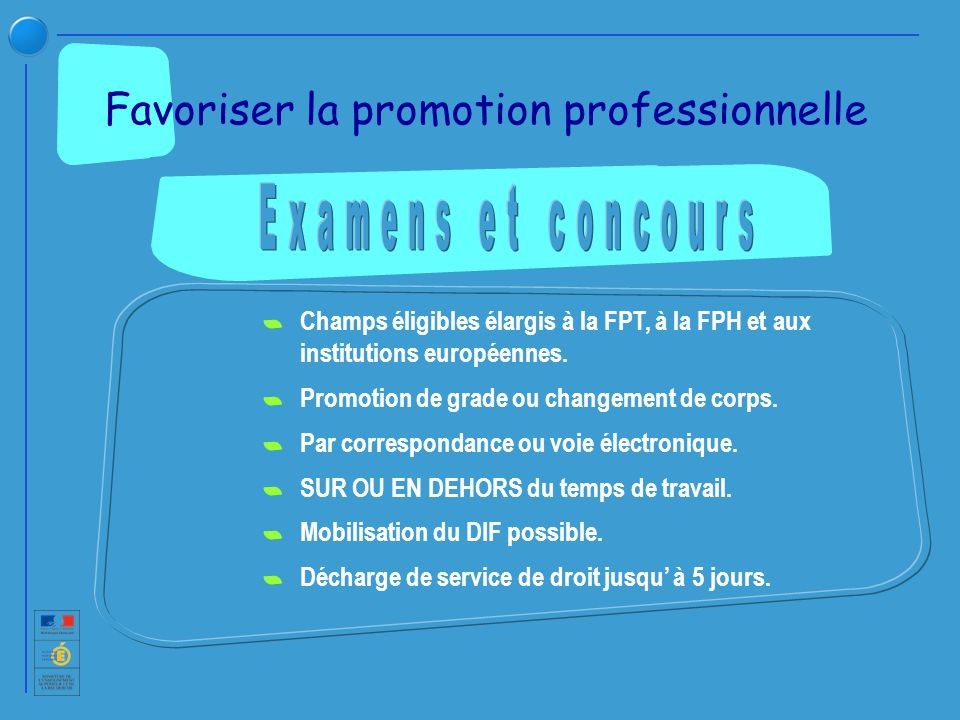 Favoriser la promotion professionnelle