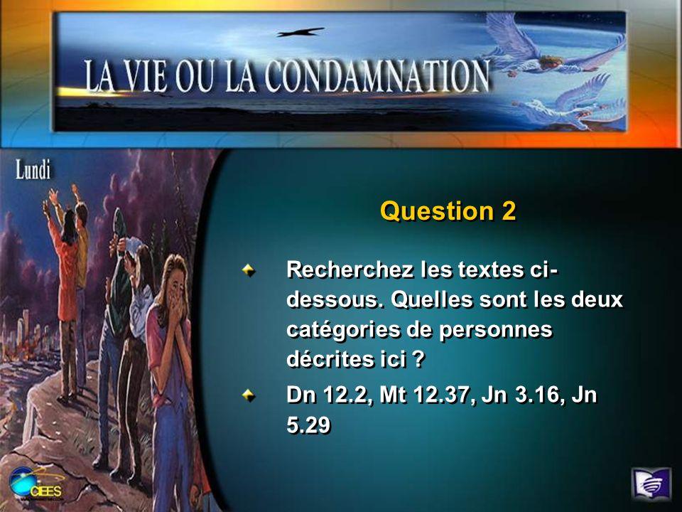 Question 2 Recherchez les textes ci-dessous. Quelles sont les deux catégories de personnes décrites ici