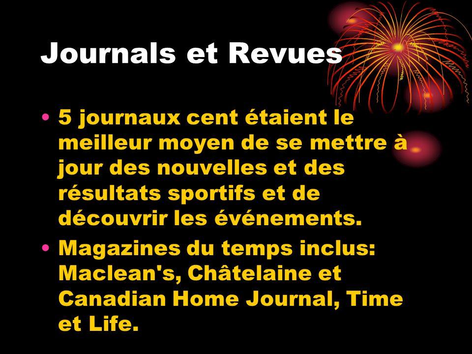 Journals et Revues