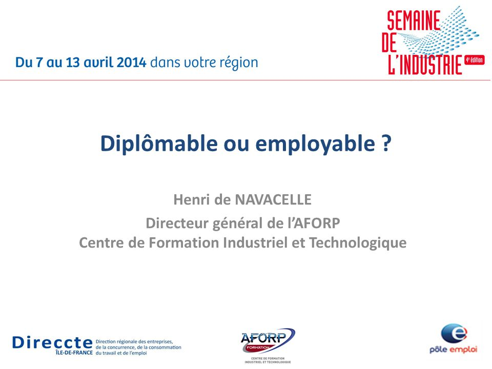 Diplômable ou employable