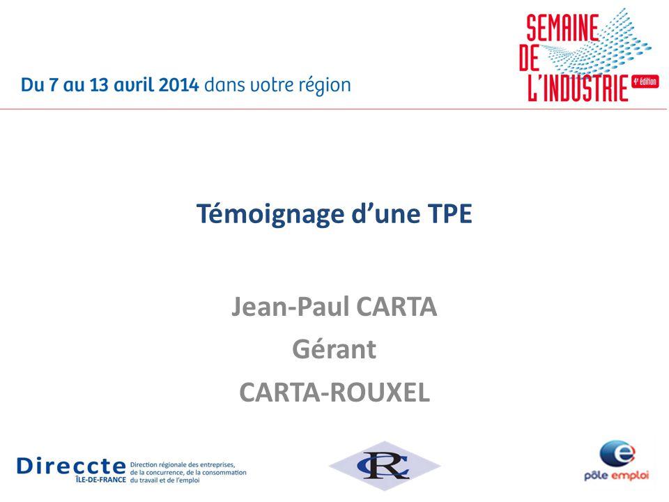 Jean-Paul CARTA Gérant CARTA-ROUXEL