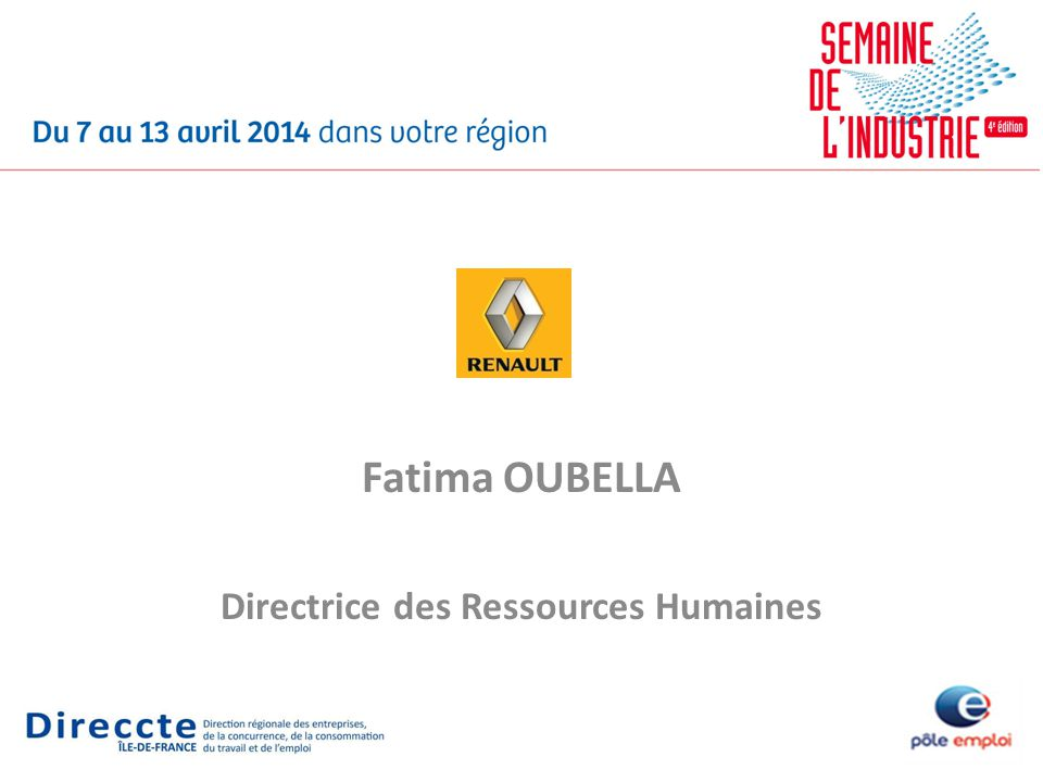 Fatima OUBELLA Directrice des Ressources Humaines