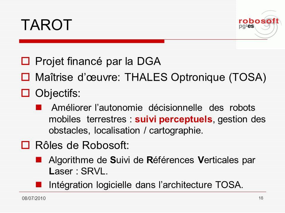 TAROT Projet financé par la DGA